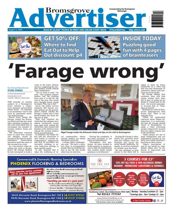 The Bromsgrove Advertiser is out now