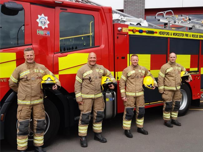 Bromsgrove fire fighters with their new CAFS vehicle.