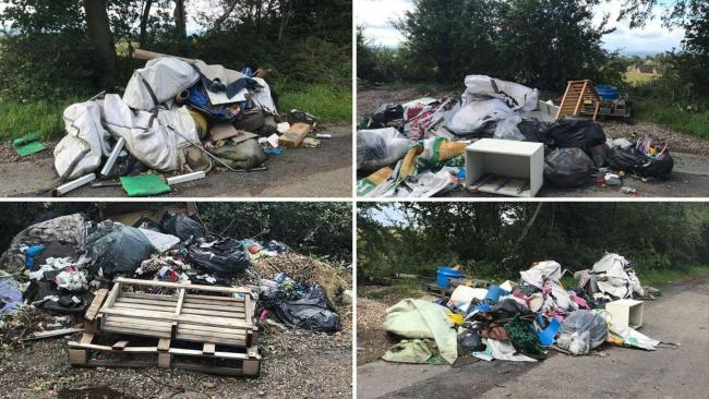 Pictures of the fly-tipping provided to the Advertiser by reader Stephanie Daley.