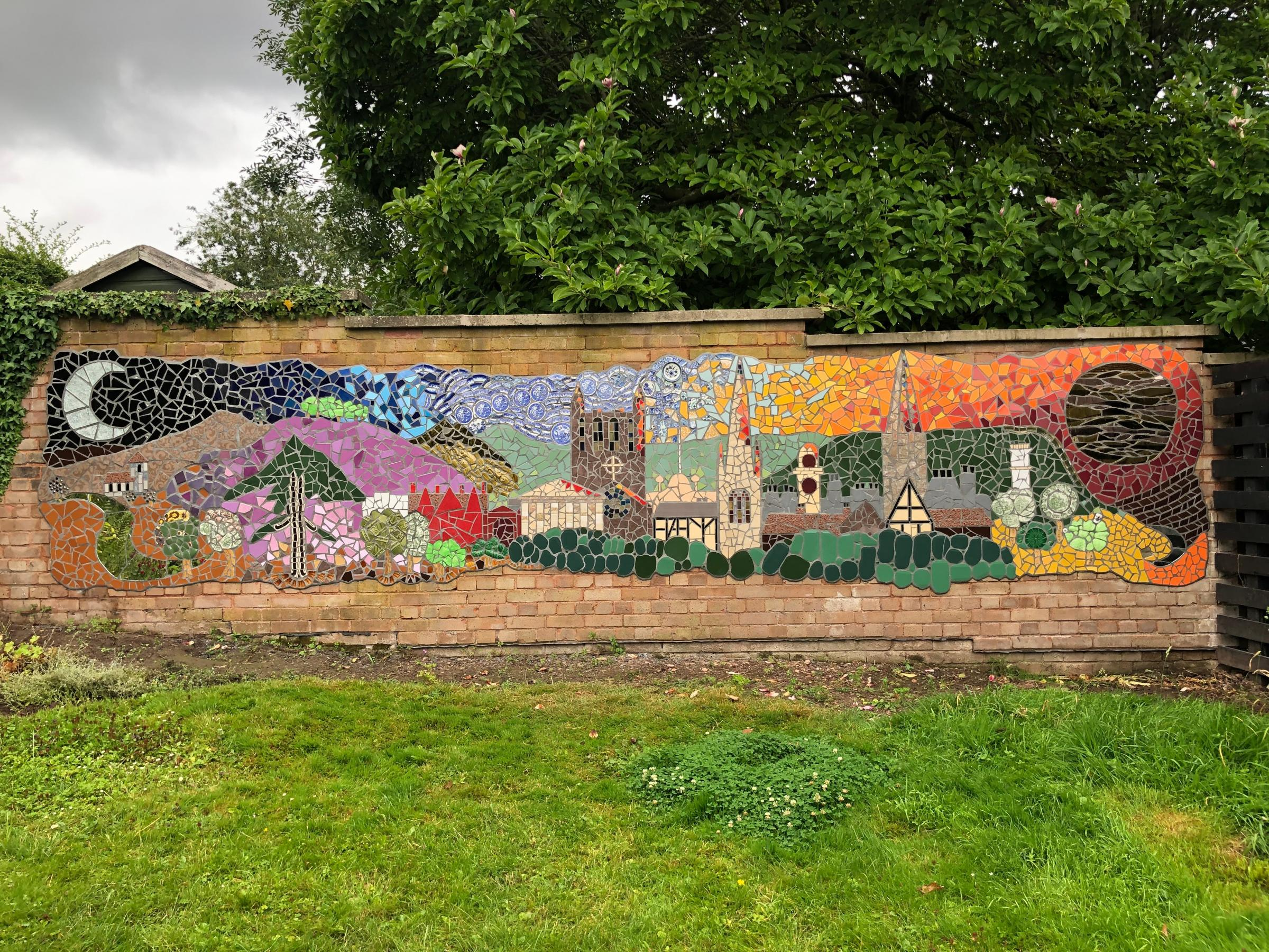 Hereford skyline mosaic viewing