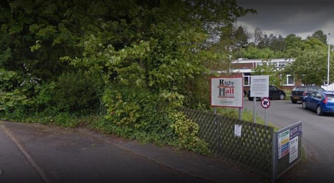 Rigby Hall Special School, where several pupils have displayed suspected symptoms of coronavirus. Picture: Google Maps.