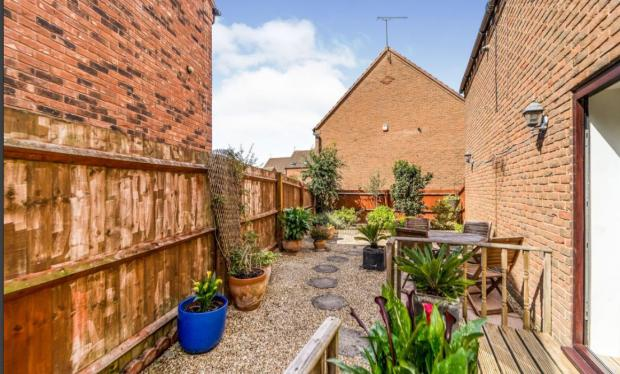 Bromsgrove Advertiser: The garden on the property (Photo: Rightmove)