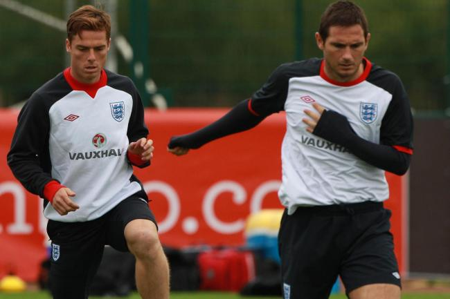 Scott Parker (left) played with Frank Lampard for Chelsea and England