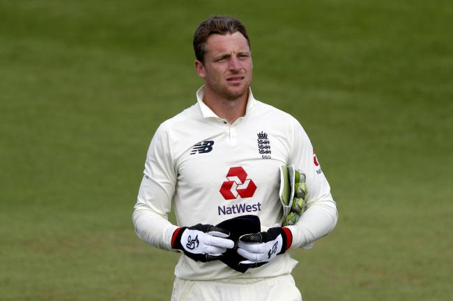 Jos Buttler celebrated a first Test stumping