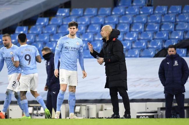Manchester City manager Pep Guardiola hailed John Stones following victory over Crystal Palace