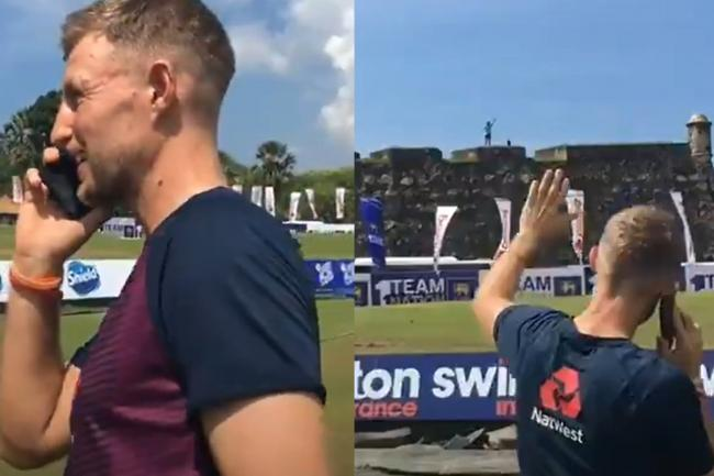 Joe Root shares a phone call with England fan Rob Lewis, who waited 10 months in Sri Lanka for the team to arrive
