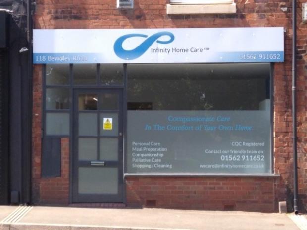 Bromsgrove Advertiser: Infinity Home Care in Bewdley Road, Kidderminster