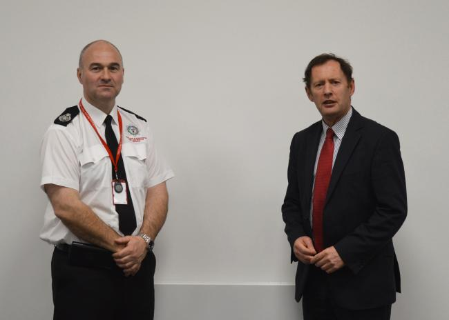NEW CHIEF: Jon Pryce with Cllr Roger Phillips