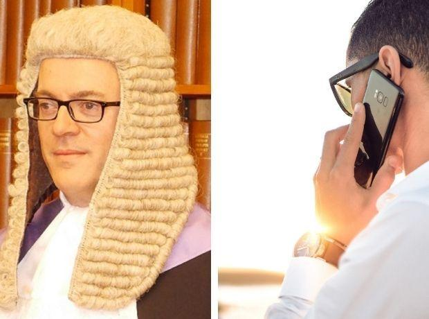 HELLO: Judge Nicolas Cartwright called the appellant on his mobile phone