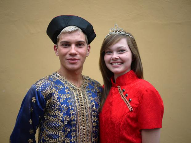 Bromsgrove Advertiser: Paul Turvey as Aladdin with Louise Bent as the Princess in PODS award-winning show