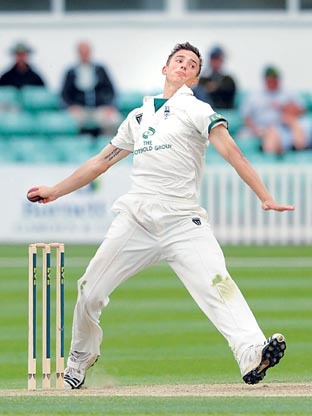 IMPRESSIVE RETURN: For bowler Richard Jones at Lancashire.