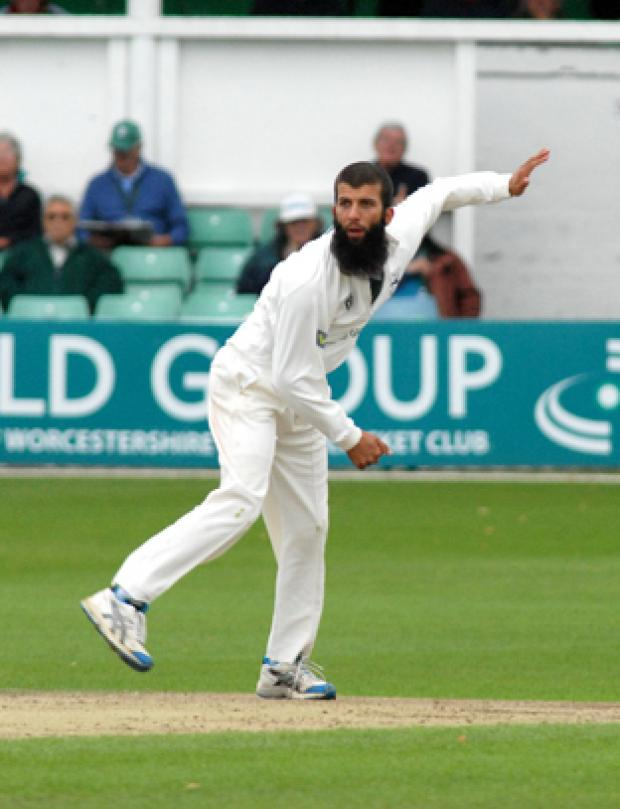 MOEEN ALI: Starred with the ball for Worcestershire today.