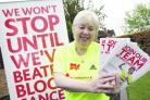 Step to it: Nicole Harris is encouraging townsfolk to sign up to this year's Leukaemia fun run. Buy photo BCR201205a