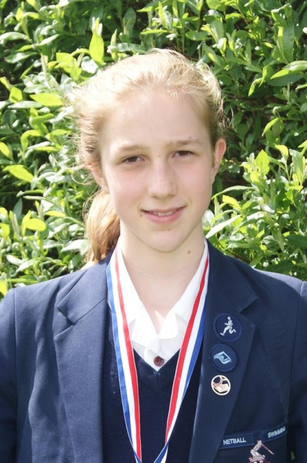 Onto the nationals: Abbie Saker, 12, has qualified for the National Triathlon Championships in September