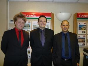 The successful team at Connells estate agency in Kidderminster.
