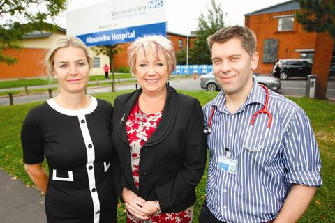 Ready to start: Francis Martin, hospital director, MP Karen Lumley, and doctor Tom Dawson.