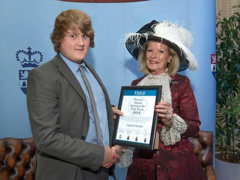 Jake Hanks with Penelope Lewis, High Sheriff of Worcestershire