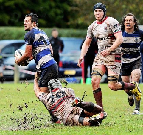 Action from Bromsgrove's home loss. Picture: PETE JEPSON