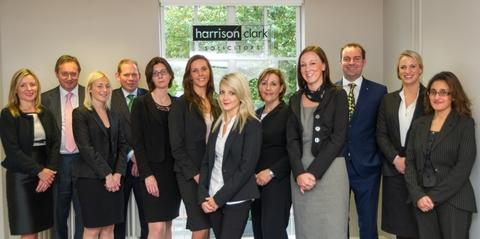 Expanding team: Staff at Harrison Clark's Hereford offices.