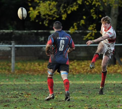 Best bar none: Bromsgrove youngster Bar Bartlett in action against Westoe. Picture: PETE JEPSON