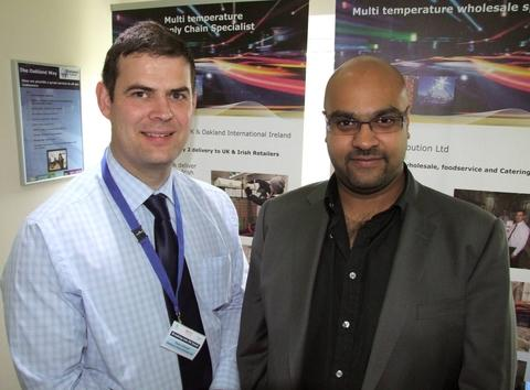 Events 'popular': Dean Attwell, left with Vinesh Patel, Spar UK supply chain controller.