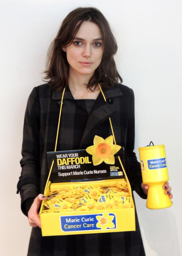 Keira Knightley is backing the Great Daffodil Appeal