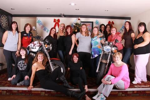 Calendar girls: Alison Lees with the Bromsgrove women taking part in a fund-raising calendar for Cancer Research UK. Ref:s