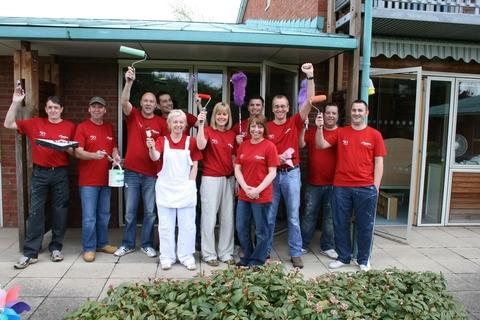 Bosch, Bosch: Employees wield their paint brushes and rollers at Acorns in Worcester.