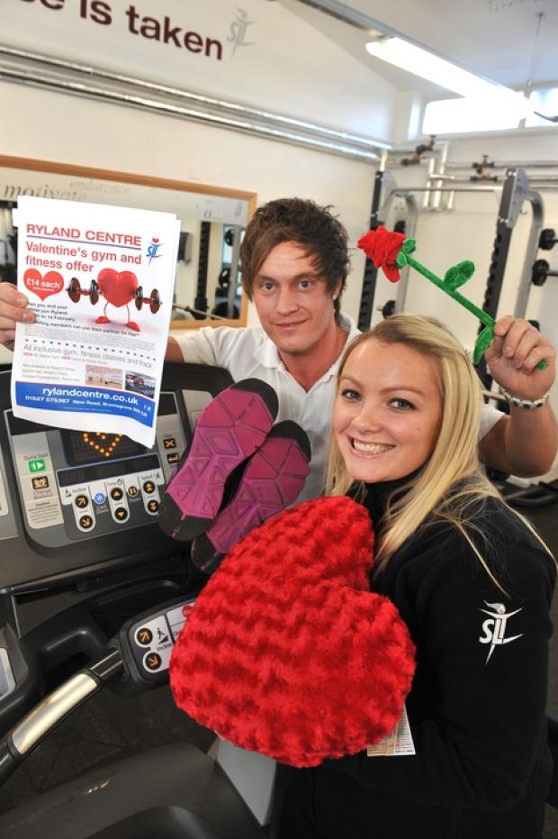 Valentine's offer: Jamie Loveridge and Michelle Jones are encouraging people to take advantage of a special Valentine's Day offer. Ref:s