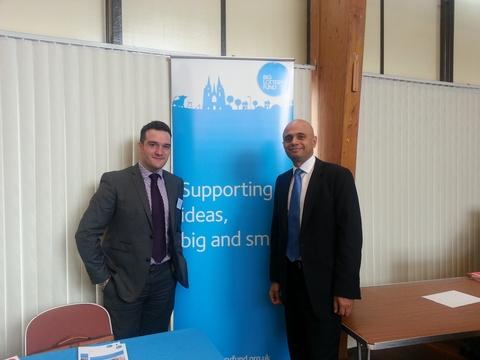 Fresh funding: Bromsgrove MP Sajid Javid with Matthew Poole from the Big Lottery Fund, at a special Council House event. Ref:s