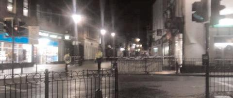 Stabbing: A section of High Street was cordoned off following the stabbing last April. Ref:s