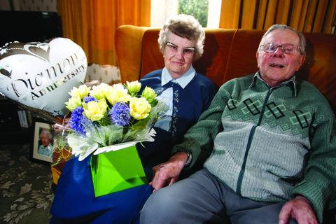 Jean and David Hancox celebrated their diamond wedding anniversary on Valentine's Day.