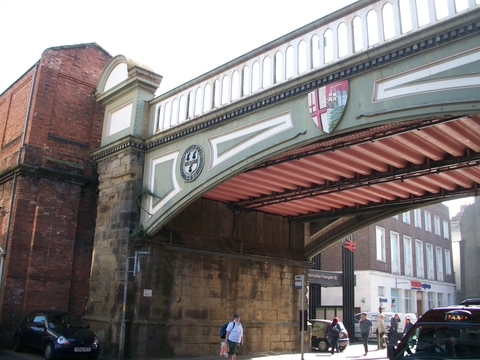 Restored to former glory: The Foregate Street bridge.