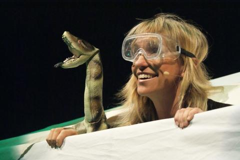 Michaela Strachan in her touring show 'Really Wild Adventures'