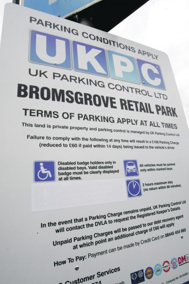 Major U-turn: Signs at Bromsgrove retail park have been altered after Sainsbury's stepped in.