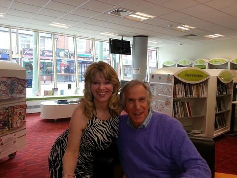 Local author Carmen Capuano with Henry Winkler.