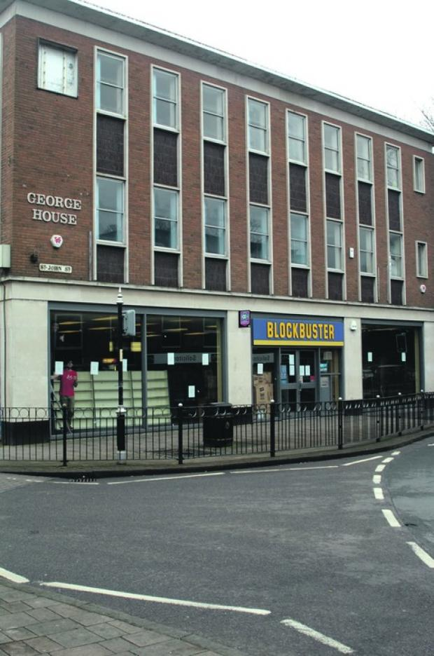 Closed: The Bromsgrove branch of Blockbusters, on the junction of Worcester Road, Market Place and High Street, closed on Saturday night. Ref:s