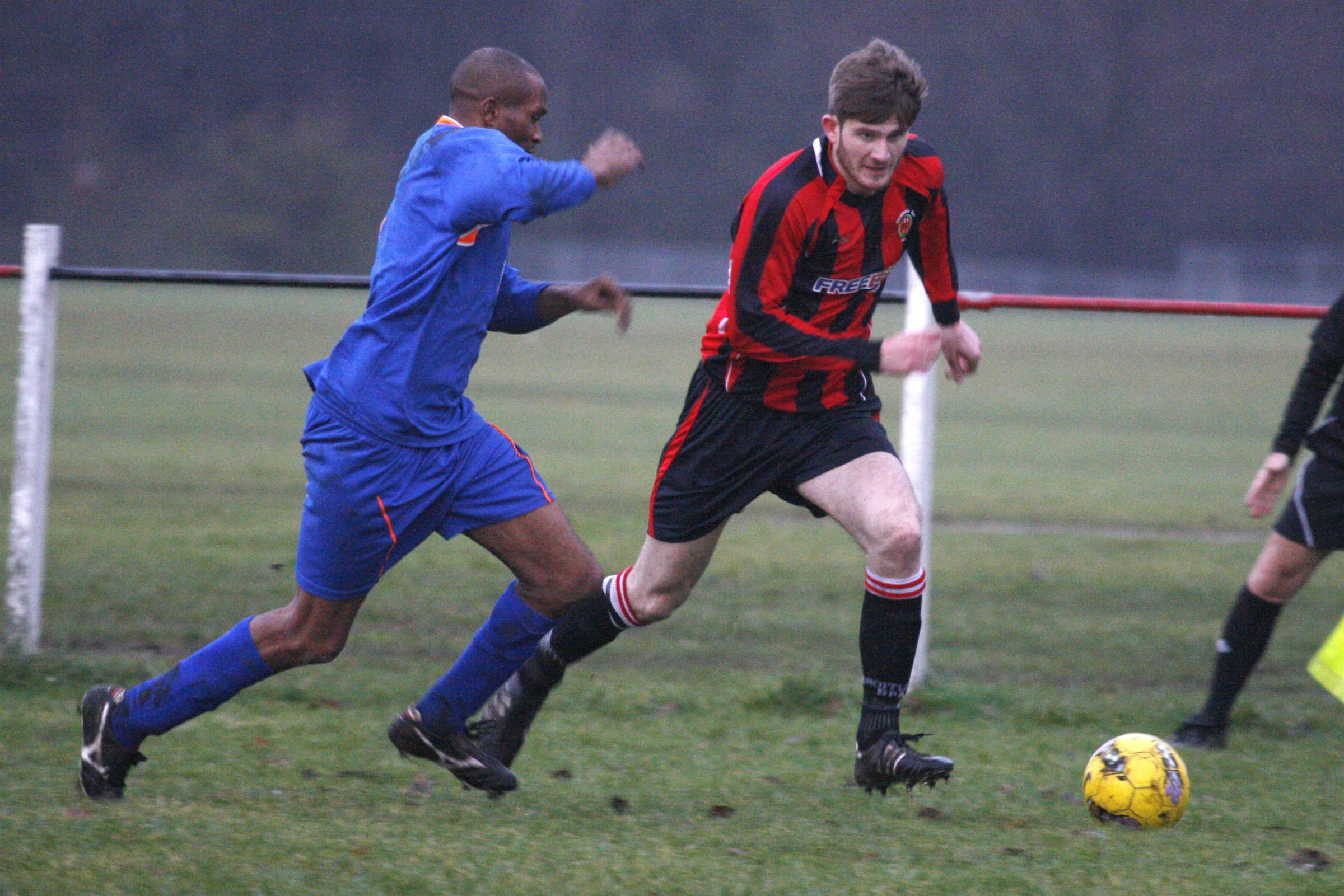 Action from Droitwich Spa's 4-1 home loss against Barnt Green. Picture: CRAIG ROSS