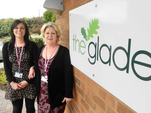 DOING A VITAL JOB FOR VICTIMS: Hannah Walker, left, and Emma Durmaz of the Glade at Bransford, near Worcester.
