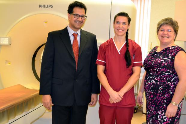 Consultant radiologist Dr Sidi Rashid, superintendent radiographer Emma Land and general manager Janice Kerr. SP