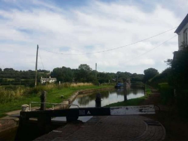 The canal at Tardebigge. SP