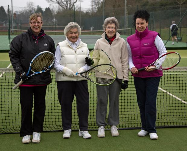 Winners: Bromsgrove Ladies' F team of Claire Andrews, Jean Thomson, Avril Pugh and Ann May.
