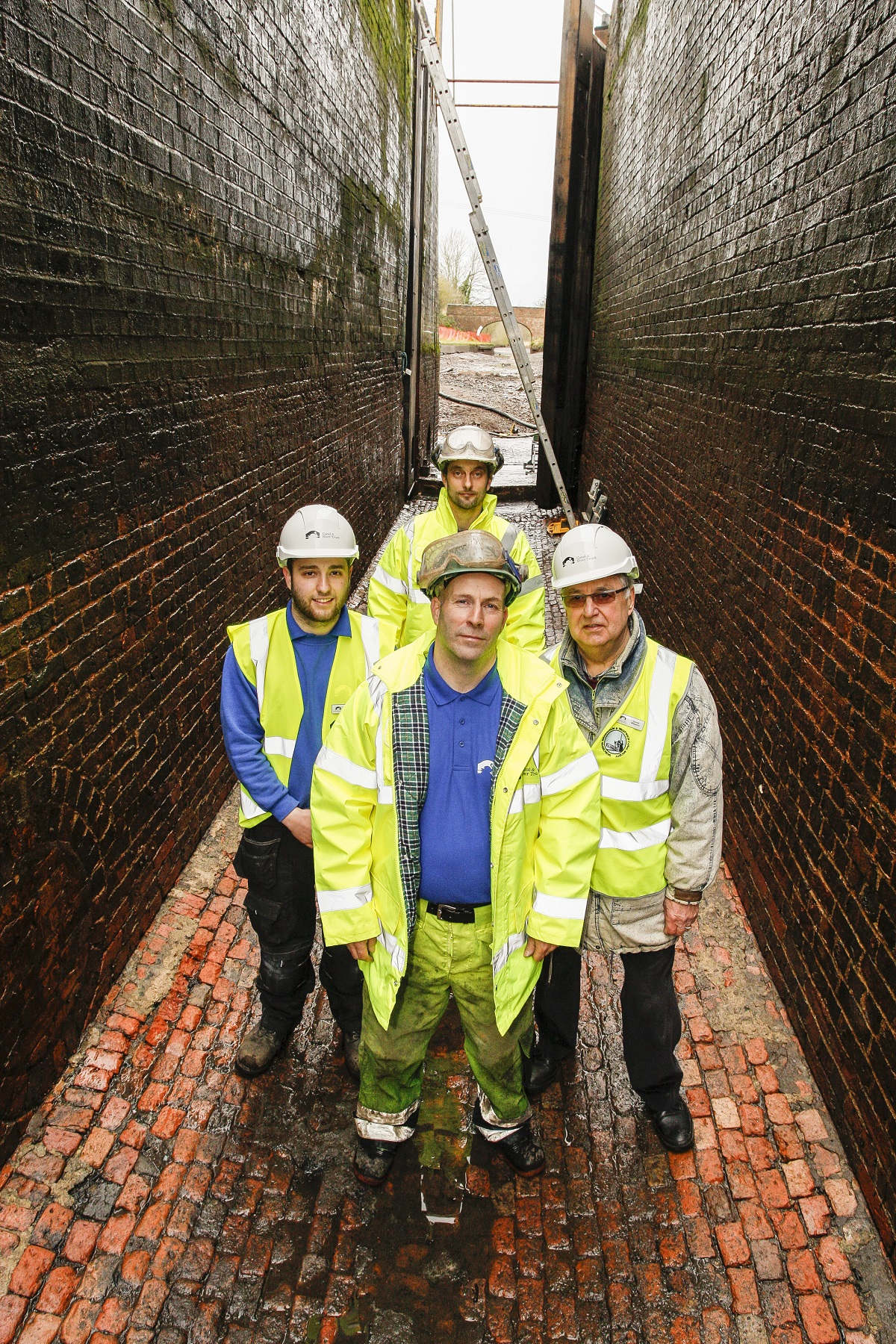 Tardebigge Locks opened their doors to the public. Dean Panner, John Williamson, Nick Pearson and  David Wheeler.