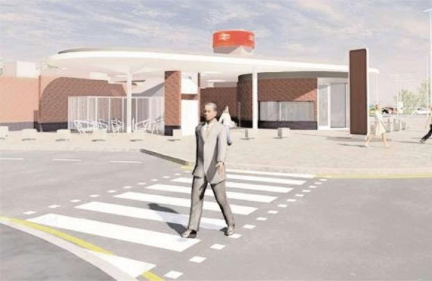 APPROVAL:  An artists impression of Bromsgrove's new Railway Station. Ref: