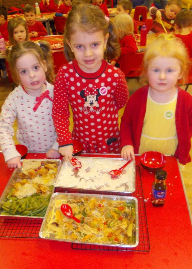 Bromsgrove Advertiser: NEW YEAR: Youngsters at Jellybabies Nursery and Pre-School have been celebrating Chinese New Year. SP