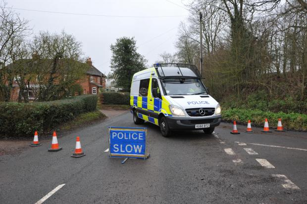 Bromsgrove Advertiser: SHOCK: The scene at Hanbury toda