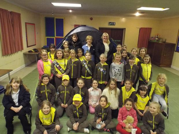 BROWNIE BOOST: The 1st Catshill Brownie group has been given a funding boost, allowing them to purchase new outdoor equipment. Ref:s