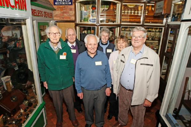 SPECIAL REOPENING: Bromsgrove Museum was reopened to the public for a special one-off weekend. Dennis Norton, with Friends of the Norton Collection of the Charitable Trust chairman Andrew Harris and trustees.   Buy this photo BCR071401