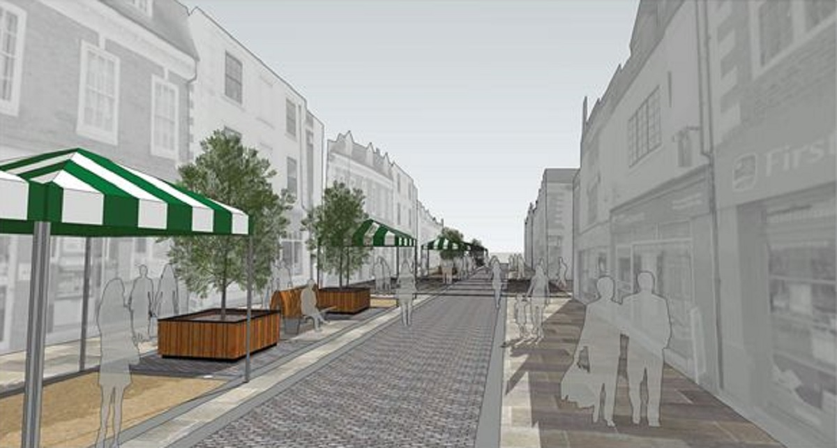 Wait is over: Construction work on Bromsgrove's new look High Street is to get underway next week. Ref:s