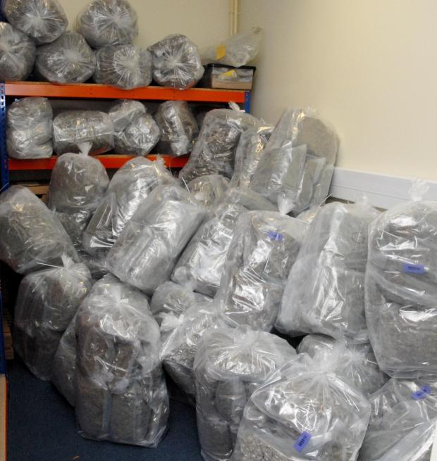 Bromsgrove Advertiser: SEIZED: Drugs with a street value of millions of pounds was seized by Newent police last July. SP